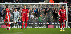 NEWCASTLE, ENGLAND - Saturday, December 11, 2010: Liverpool's Martin Skrtel during looks dejected after conceding Newcastle United's opening goal during the Premiership match at St James' Park. (Photo by: David Rawcliffe/Propaganda)