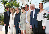 Actor Paul Dano, Harvey Keitel, Actress Rachel Weisz and director Paolo Sorrentino and actress Madalina Ghenea at the Youth film photo call at the 68th Cannes Film Festival Tuesday May 20th 2015, Cannes, France.