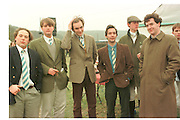 James Johnstone; Hugh Chisolm; ( cravat. George O, Oxford University  ( Bullingdon ) Point to Point. Kingston Blount. 1 Feb 1997. ONE TIME USE ONLY - DO NOT ARCHIVE  © Copyright Photograph by Dafydd Jones 248 clapham Rd. London Sw9 0PZ. 0207 820 0771 www.dafjones.com