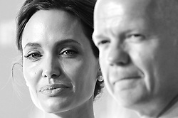 Image ©Licensed to i-Images Picture Agency. 10/06/2014. <br /> <br /> Angelina Jolie and William Hague attend the Global Summit to End Sexual Violence in Conflict at The ExCel, London, UK.<br /> <br /> Picture by Ben Stevens / i-Images