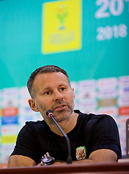 NANNING, CHINA - Wednesday, March 21, 2018: Wales' new manager Ryan Giggs during a press conference at the Guangxi Sports Centre ahead of the opening 2018 Gree China Cup International Football Championship match against China. (Pic by David Rawcliffe/Propaganda)
