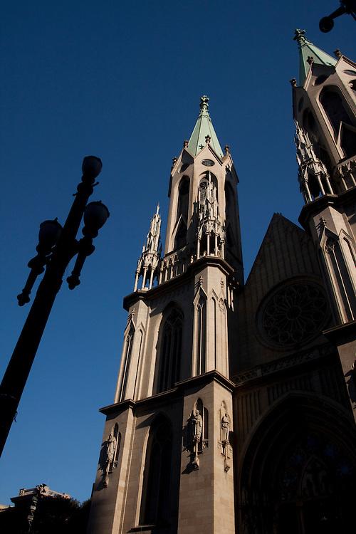 Sao Paulo_SP, Brasil...Detalhe da torre da catedral Metropolitana de Sao Paulo ou Catedral da Se em Sao Paulo...Detail of the tower of the Metropolitan Cathedral in Sao Paulo...Foto: MARCUS DESIMONI / NITRO