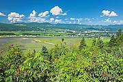 View_of Baie-St-Paul village from St-Joseph-de-la-Rive<br /> L'Isle-aux-Coudres<br /> Quebec<br /> Canada