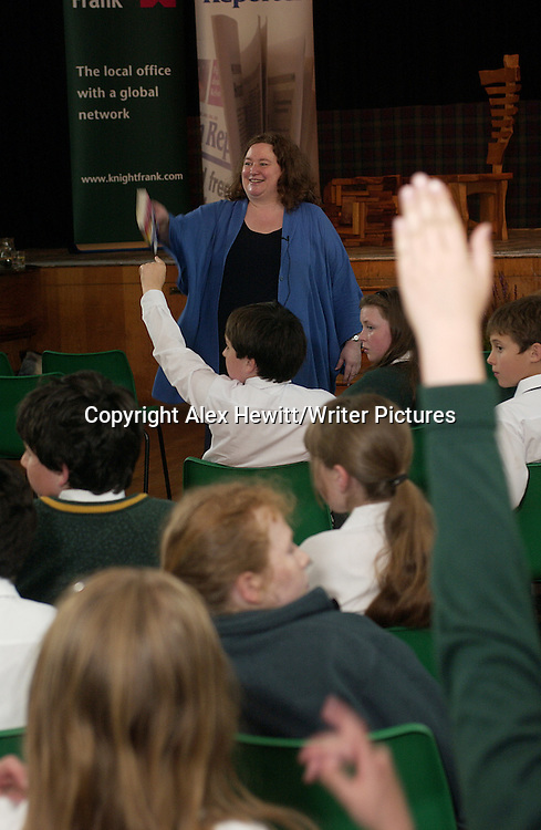 Eleanor Updale hosts a session with school children<br /> Events at the Borders Book Festival 2007, held in Melrose in the Scottish Borders.<br /> <br /> Copyright Alex Hewitt/Writer Pictures <br /> contact +44 (0)20 8241 0039 <br /> sales@writerpictures.com <br /> www.writerpictures.com