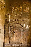 Egypt. Cairo : old Wood door of Oda Bashi sabil Kutab  - fountain and coranic study room -  in al Gamaliyyah  area In Islamic Cairo +