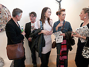 PHIL JONES; JAMES HOLDSWORTH; LIZ FALLIS; JANE HOLDSWORTH, FALLIS IN WONDERLAND, Exhibition of work by Abigail Fallis. Pangolin London. 4 MAY 2010 *** Local Caption *** -DO NOT ARCHIVE-© Copyright Photograph by Dafydd Jones. 248 Clapham Rd. London SW9 0PZ. Tel 0207 820 0771. www.dafjones.com.<br /> PHIL JONES; JAMES HOLDSWORTH; LIZ FALLIS; JANE HOLDSWORTH, FALLIS IN WONDERLAND, Exhibition of work by Abigail Fallis. Pangolin London. 4 MAY 2010