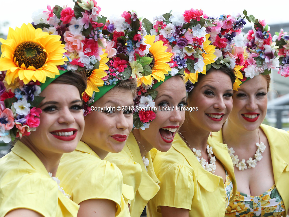 The Tootsie Rollers singers on the second day of Royal Ascot, Wednesday,19th June 2013<br /> Picture by Stephen Lock / i-Images