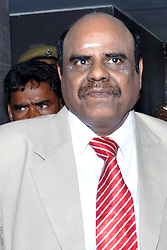 May 4, 2017 - Kolkata, West Bengal, India - Calcutta High Court judge Justice Chinnaswamy Swaminathan Karnan interact with teams of doctor from state to run at mental hospital at his residence in Kolkata. Justice Karnan refuses to undergo any medical test despite of Supreme Court order for the same. (Credit Image: © Saikat Paul/Pacific Press via ZUMA Wire)