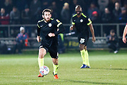 Macclesfield Town midfielder Jak McCourt in action during the EFL Sky Bet League 2 match between Salford City and Macclesfield Town at the Peninsula Stadium, Salford, United Kingdom on 23 November 2019.