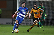 Gerry McDonagh of Cambridge United and Brad Walker of Hartlepool United in action during the EFL Sky Bet League 2 match between Cambridge United and Hartlepool United at the Cambs Glass Stadium, Cambridge, England on 14 March 2017. Photo by Harry Hubbard.