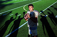 October 18, 2017 - Senior Tate Kolwyck is a four-year starting quarterback for the Arlington Tigers. Kolwyck will start his 44th straight game Friday when the Tigers host Cordova in their final home game of the regular season. It will be a big occasion; the two teams are heated rivals and both are 6-2 overall and undefeated in Region 7 play. And it's Senior Night, a perfect opportunity for Tigers fans to reflect on what Kolwyck has provided the program. (Yalonda M. James/The Commercial Appeal)