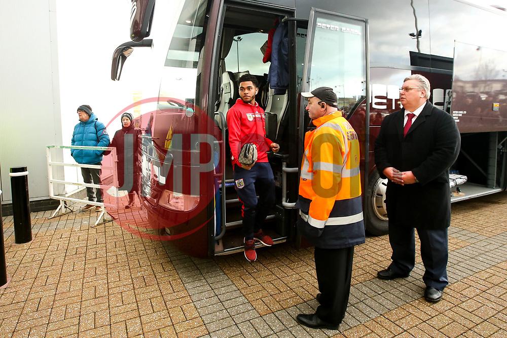 Jay Dasilva of Bristol City arrives at Pride Park Stadium for the Sky Bet Championship game against Derby County - Mandatory by-line: Robbie Stephenson/JMP - 22/12/2018 - FOOTBALL - Pride Park Stadium - Derby, England - Derby County v Bristol City - Sky Bet Championship