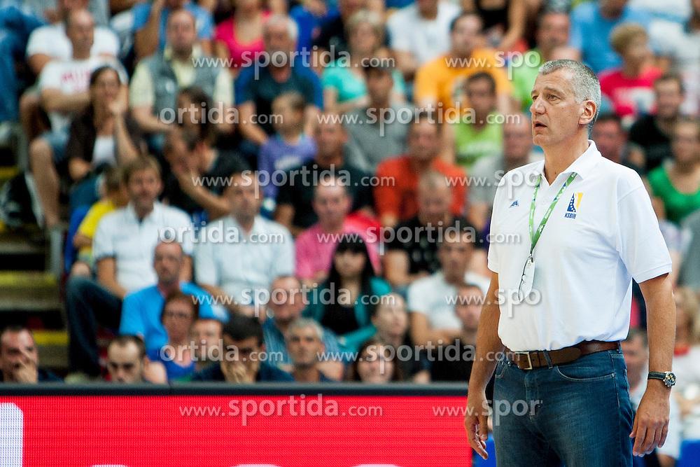Head coach of Bosnia and Herzegovina during friendly match between National teams of Slovenia and Bosnia and Herzegovina for Eurobasket 2013 on August 16, 2013 in Podmezakla, Jesenice, Slovenia. (Photo by Urban Urbanc / Sportida.com)