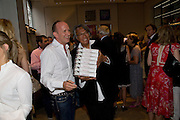 SIMON SEBAG-MONTEFIORE; DAVID TANG, Book launch party for  Sashenka, a romantic novel set in St Petersburg following a society girl who becomes involved with the Communist Party. By Simon Sebag-Montefiore. Asprey. New Bond St. London. 1 July 2008.  *** Local Caption *** -DO NOT ARCHIVE-© Copyright Photograph by Dafydd Jones. 248 Clapham Rd. London SW9 0PZ. Tel 0207 820 0771. www.dafjones.com.