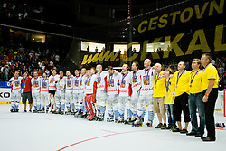Team Czech Republic Champions of IIHF In-Line Hockey World Championships 2011 Top Division Gold medal game between National teams of Czech republic and USA on June 25, 2011, in Pardubice, Czech Republic. (Photo by Matic Klansek Velej / Sportida)