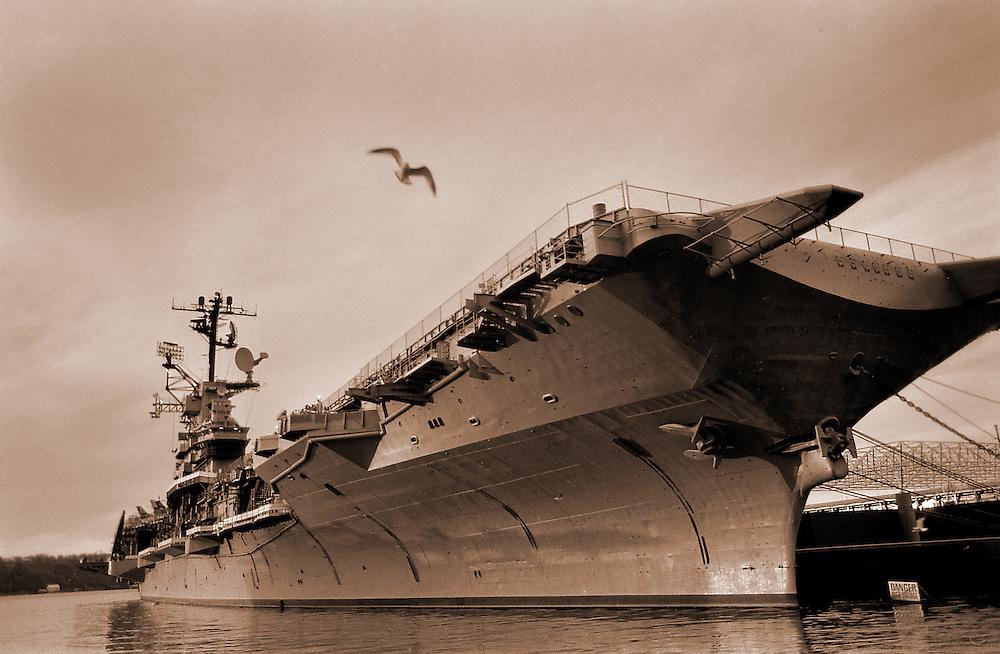 The U.S.S. Enterprise. East River, around 1981.