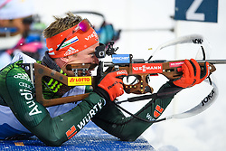 March 16, 2019 - –Stersund, Sweden - 190316 Benedikt Doll of Germany competes in the Men's 4x7,5 km Relay during the IBU World Championships Biathlon on March 16, 2019 in Östersund..Photo: Petter Arvidson / BILDBYRÃ…N / kod PA / 92269 (Credit Image: © Petter Arvidson/Bildbyran via ZUMA Press)