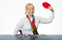 Mateja Pintar of Slovenia, ITTF Para Table Tennis player, gold and bronze paralympic medalist, portrait was made on January 12, 2012 in Ljubljana, Slovenia. (Photo By Vid Ponikvar / Sportida.com)