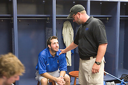 28 May 2007: Duke Blue Devils former head coach Mike Pressler in the locker room after loosing to the Johns Hopkins Blue Jays 11-12 in the NCAA Championship at M&T Stadium in Baltimore, MD.