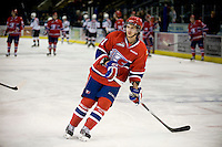KELOWNA, CANADA, DECEMBER 27:  Liam Stewart #11 of the Spokane Chiefs warms up on the ice at the Kelowna Rockets on December 7, 2011 at Prospera Place in Kelowna, British Columbia, Canada (Photo by Marissa Baecker/Getty Images) *** Local Caption ***
