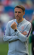Phil Neville, Head Coach of England FC during the FIFA Women's World Cup UEFA warm up match between England Women and New Zealand Women at the American Express Community Stadium, Brighton and Hove, England on 1 June 2019.