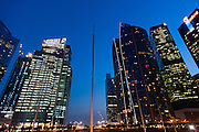 Marina Bay skyscrapers at night (Singapore)