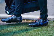 Rainbow laces being worn during the EFL Sky Bet Championship match between Barnsley and Hull City at Oakwell, Barnsley, England on 30 November 2019.