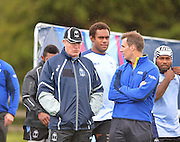 Fiji Coach John McKee looking on during the Fiji Training Session in preparation for the Rugby World Cup at London Irish RFC, Sunbury-On-Thames, United Kingdom on 14 September 2015. Photo by Ian Muir. during the Fiji Training Session in preparation for the Rugby World Cup at London Irish RFC, Sunbury-On-Thames, United Kingdom on 14 September 2015. Photo by Ian Muir.