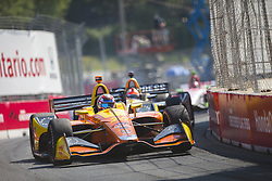 July 15, 2018 - Toronto, Ontario, Canada - ZACH VEACH (26) of the United Stated battles for position during the Honda Indy Toronto at Streets of Toronto in Toronto, Ontario. (Credit Image: © Justin R. Noe Asp Inc/ASP via ZUMA Wire)