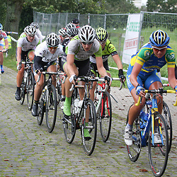 Peloton op de kasseien; Peloton on the cobbles