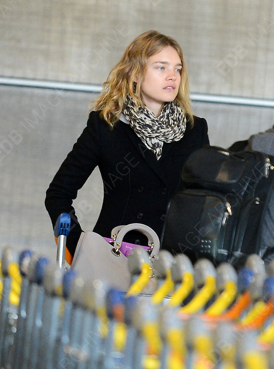 08.FEBRUARY.2013. PARIS<br /> <br /> NATALIA VODIANOVA IS SEEN ARRIVING AT ROISSY-CHARLES DE GAULLE AIRPORT, PARIS<br /> <br /> BYLINE: EDBIMAGEARCHIVE.CO.UK<br /> <br /> *THIS IMAGE IS STRICTLY FOR UK NEWSPAPERS AND MAGAZINES ONLY*<br /> *FOR WORLD WIDE SALES AND WEB USE PLEASE CONTACT EDBIMAGEARCHIVE - 0208 954 5968*