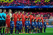 01.05.2013, Fussball Champions League Halbfinale Rückspiel: FC Barcelona - FC Bayern München, im Stadion Nou Camp in Barcelona, Spanien. Mannschaft FC Bayern.