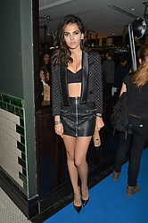 DOINA CIOBANU at the Maybelline New York: Party, part of the London Fashion Week Spring Summer 15 held at Tredwell's, 4a Upper St Martins Lane, London on 12th September 2014.