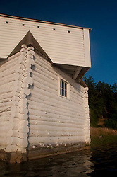 Blockhouse at English Camp, San Juan Island, Washington, US
