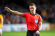 Referee Nick Walsh during the Ladbrokes Scottish Premiership match between Motherwell FC and Heart of Midlothian FC at Fir Park, Stadium, Motherwell, Scotland on 17 February 2019.