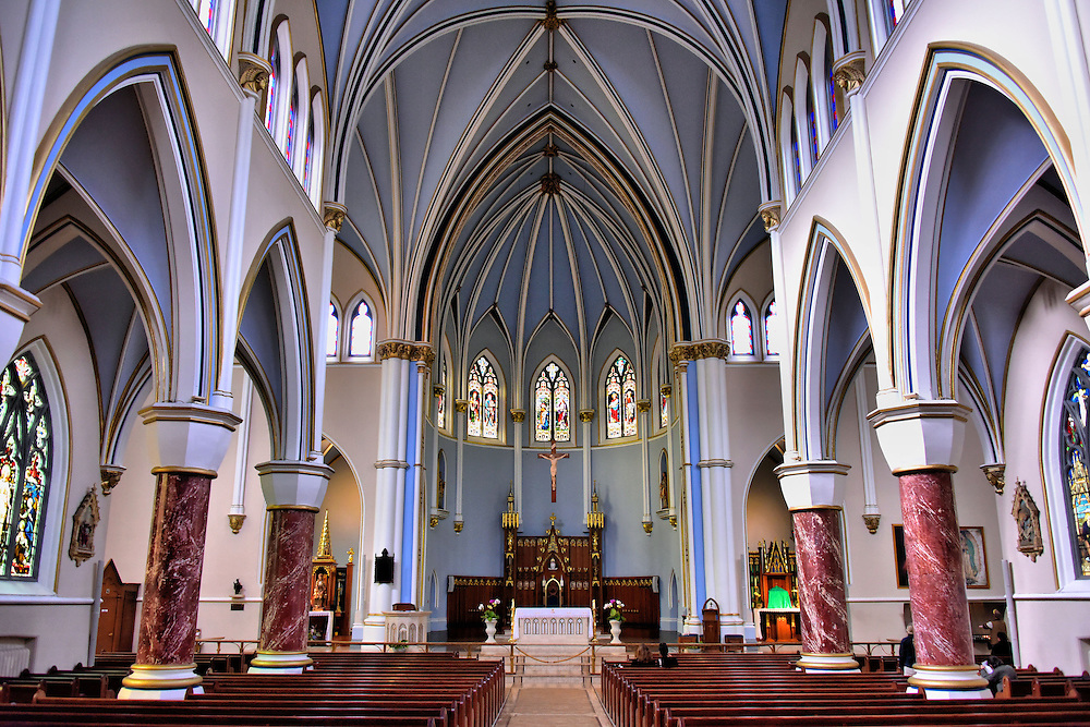 Holy Rosary Cathedral Interior in Vancouver, Canada <br />