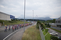 Cervélo-Bigla Cycling Team and Team WNT lead the charge into Durango during Stage 1 of the Emakumeen Bira - a 50 km road race, starting and finishing in Iurreta on May 16, 2017, in Basque Country, Spain.