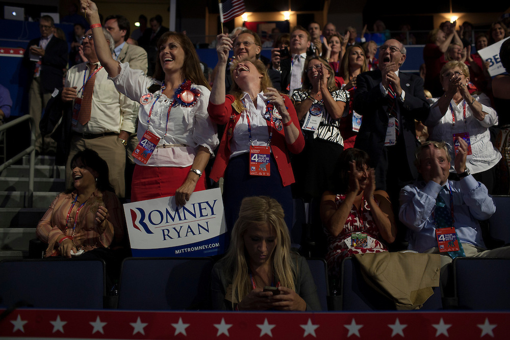 RNC in Tampa, FL, on Thursday, Aug. 30, 2012. ..Photograph by Andrew Hinderaker.