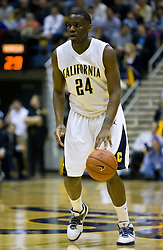 February 11, 2010; Berkeley, CA, USA;  California Golden Bears forward Theo Robertson (24) during the first half against the Washington Huskies at the Haas Pavilion.  California defeated Washington 93-81.