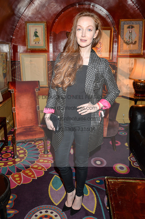 OLIVIA GRANT at an intimate performance by Jessie Ware at Annabel's, Berkeley Square, London on 20th April 2016.