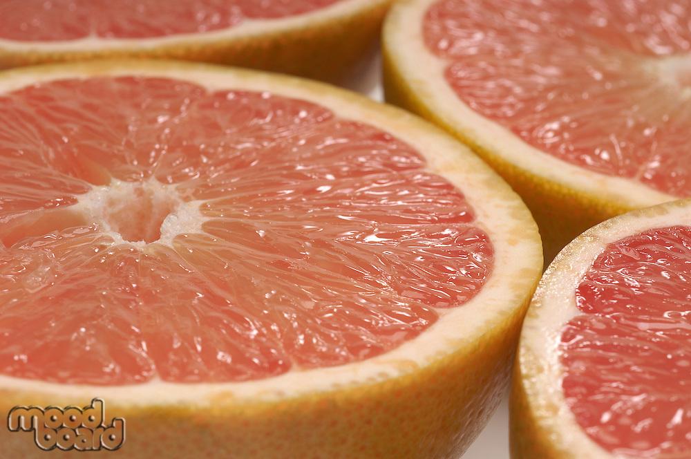 Halved grapefruits, close-up