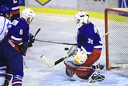 Goalkeeper of Slovenia Zvone Bolta at friendly ice-hockey game Slovenia Oldies vs Gazprom Export (Russia), on October 24, 2008 in Hala Tivoli, Ljubljana, Slovenia. Gazprom Export won 6:3.(Photo by Vid Ponikvar / Sportal Images)