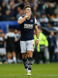 Tom Bradshaw of Millwall acknowledges the fans at the final whistle - Mandatory by-line: Arron Gent/JMP - 05/10/2019 - FOOTBALL - The Den - London, England - Millwall v Leeds United - Sky Bet Championship