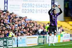 Danny Woodards (ENG) of Bristol Rovers takes a throw in - Photo mandatory by-line: Rogan Thomson/JMP - 07966 386802 - 19/04/2014 - SPORT - FOOTBALL - Fratton Park, Portsmouth - Portsmouth FC v Bristol Rovers - Sky Bet Football League 2.