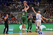 DESCRIZIONE : Eurolega Euroleague 2015/16 Group D Unicaja Malaga - Dinamo Banco di Sardegna Sassari<br /> GIOCATORE : Carlos Suarez<br /> CATEGORIA : Tiro Tre Punti Three Point Controcampo Ritardo<br /> SQUADRA : Unicaja Malaga<br /> EVENTO : Eurolega Euroleague 2015/2016<br /> GARA : Unicaja Malaga - Dinamo Banco di Sardegna Sassari<br /> DATA : 06/11/2015<br /> SPORT : Pallacanestro <br /> AUTORE : Agenzia Ciamillo-Castoria/L.Canu