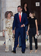 KIng Felipe and Queen Letizia attend  a reception at the Almudaina Palace, 05-8-201