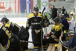 Enes Gorse of HK Playboy Slavija during 5th game of final INL league ice hockey match between HK Playboy Slavija and EHC Bregenzerwald at Dvorana Zalog, on April 3, 2013, in Ljubljana, Slovenia. (Photo by Matic Klansek Velej / Sportida)