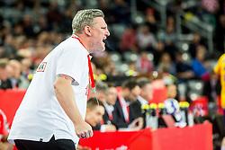 head coach Nikolaj Jacobsen (DEN) during handball match between National teams of Denmark and Sweden in Half Final match of Men's EHF EURO 2018, on January 26, 2018 in Arena Zagreb, Zagreb, Croatia. Photo by Ziga Zupan / Sportida