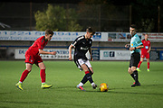17/10/2017 - Dundee v Falkirk in the SPFL Development League at Links Park, Montrose; Dundee's John Smith