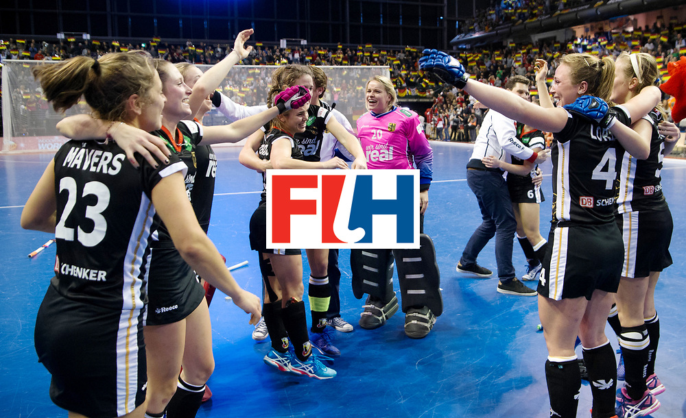 BERLIN - Indoor Hockey World Cup<br /> Final: Netherlands - Germany<br /> Germany wins the world championship.<br /> foto: <br /> WORLDSPORTPICS COPYRIGHT FRANK UIJLENBROEK